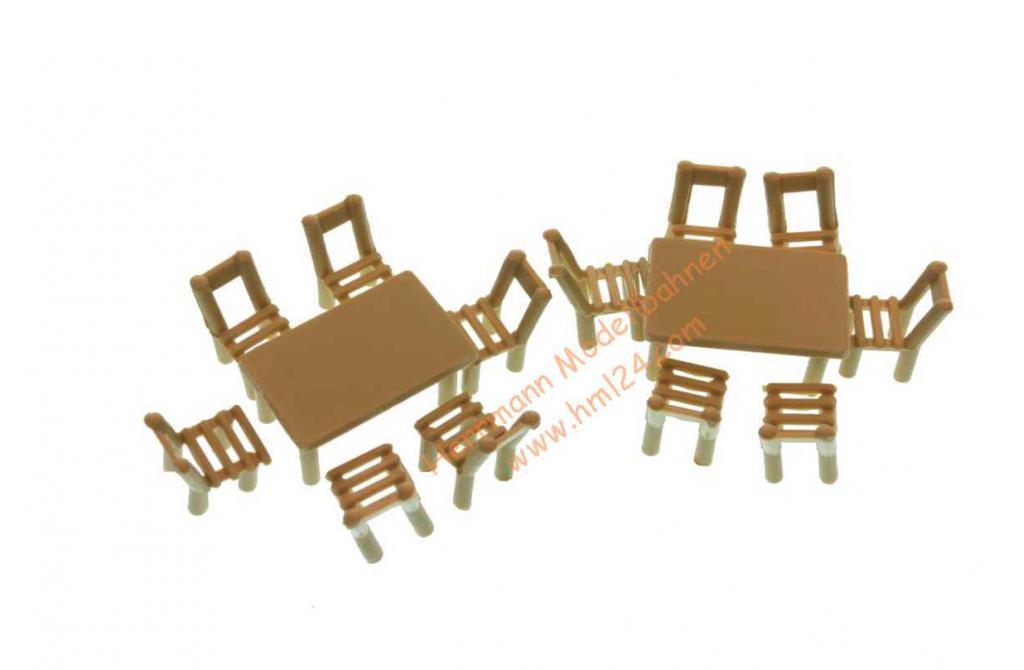 Auhagen 41607 Holztische Holzstühle