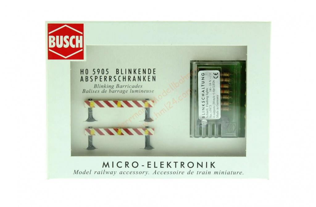 Busch 5905 Baustellen-Absperrungen H0