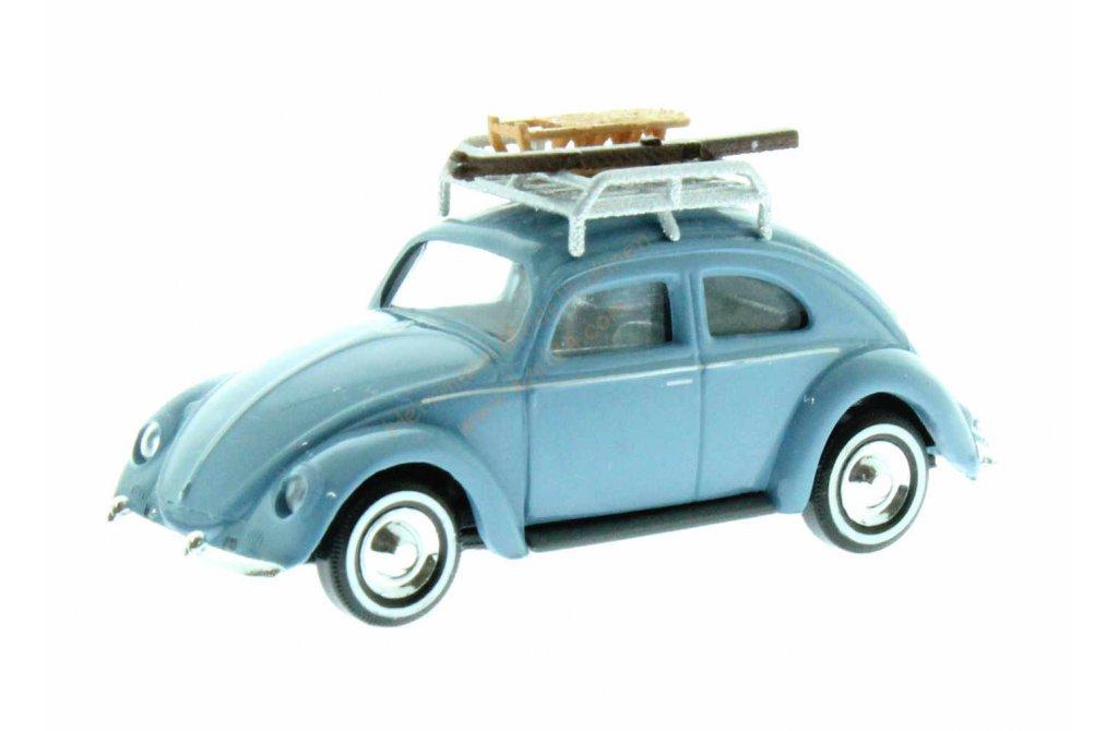 H0 42734 VW Käfer mit Brezelfenster und Dachgepäckträger Modellauto Busch