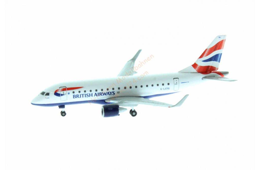 Herpa Wings British Airways Cityflyer Embraer E170 G-LCYG 531092