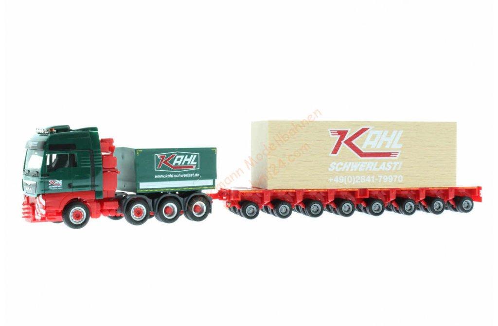 Herpa 310857 Kahl MAN TGX XXL Schwerlast ZM /& Goldhofer THP mit Ladung 8647