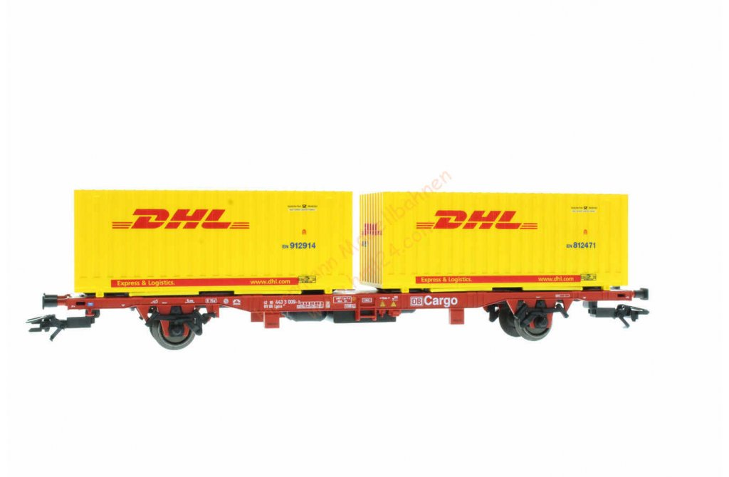 ho containertragwagen dhl m rklin 47705. Black Bedroom Furniture Sets. Home Design Ideas
