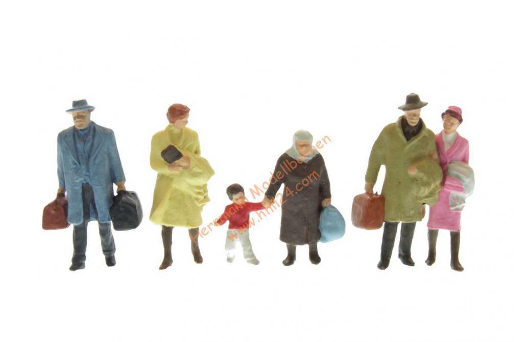 Preiser 14043 H0 Figuren gehende Reisende